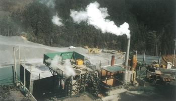 ⑳廃タイヤ燃焼によるリサイクルプラント(笠間工場)